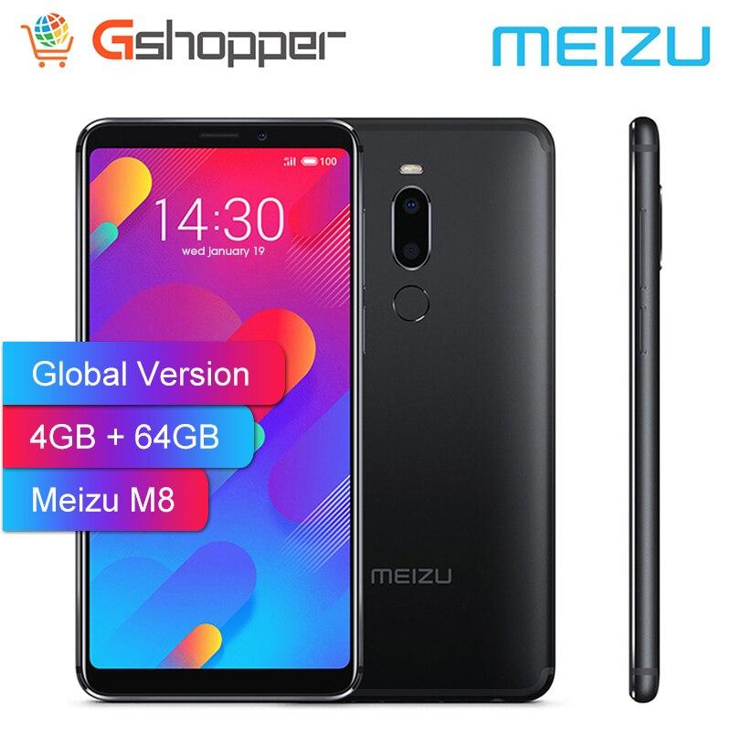 Version mondiale Meizu M8 V8 4GB 64GB ROM téléphone portable Helio P22 Octa Core 5.7 plein écran 12.0MP caméra empreinte digitale Smartphone