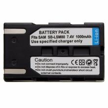 1000mAh LSM 80 SB LSM80 LSM80 Camera Battery Rechageable battery For SAMSUNG VP DC175 VP DC565 VP DC575 SC D357 Wholesale