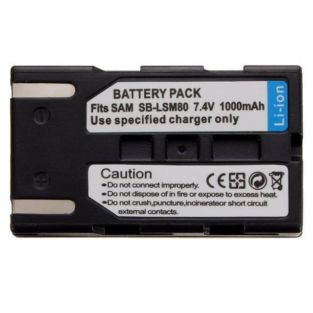 1000mah LSM 80 SB LSM80 LSM80 カメラバッテリーrechageableバッテリーVP DC175 VP DC565 VP DC575 SC D357 卸売