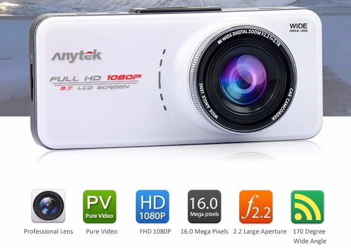 imágenes para Original AT66A Anytek Full HD Cámara Del Coche DVR Novatek 96650 Coches DVR Grabadora de 170 Grados 6G Modelo DVR Dashcam Noche Lente Dash Cam