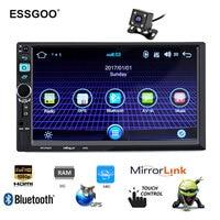 7'' Android 6.0 Gps Navigation 2 Din Car Radio Mp5 Player 1+16G Autoradio Bluetooth Wifi Rear View Camera Navigator Free Map