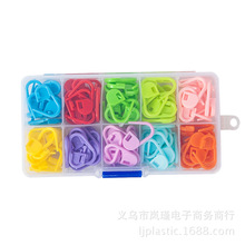Nova 120pcs Locking Stitch Marker with box,10 Colors Each Color 12pcs, Lock Pins Plastic Ring Markers for Knitting Accessories