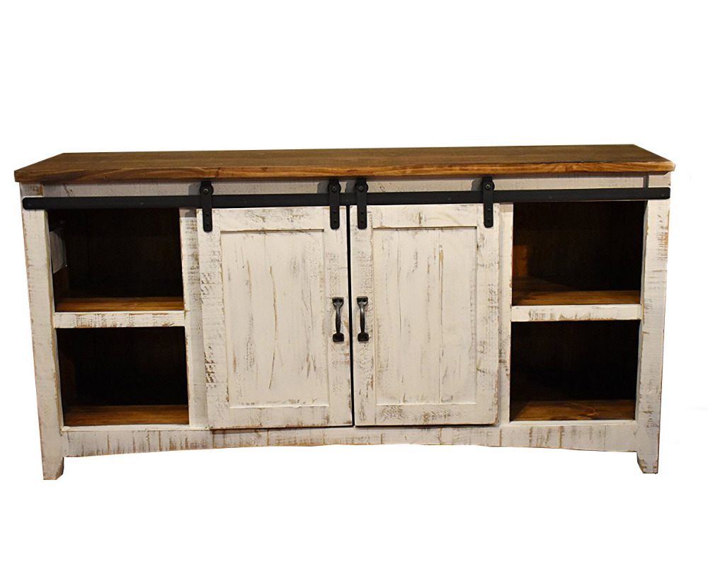 DIYHD Small Barn Door Hardware Wooden Cabinet Double Sliding Barn Door Hardware Mini Barn Door Track Kit To Hang 2 Door