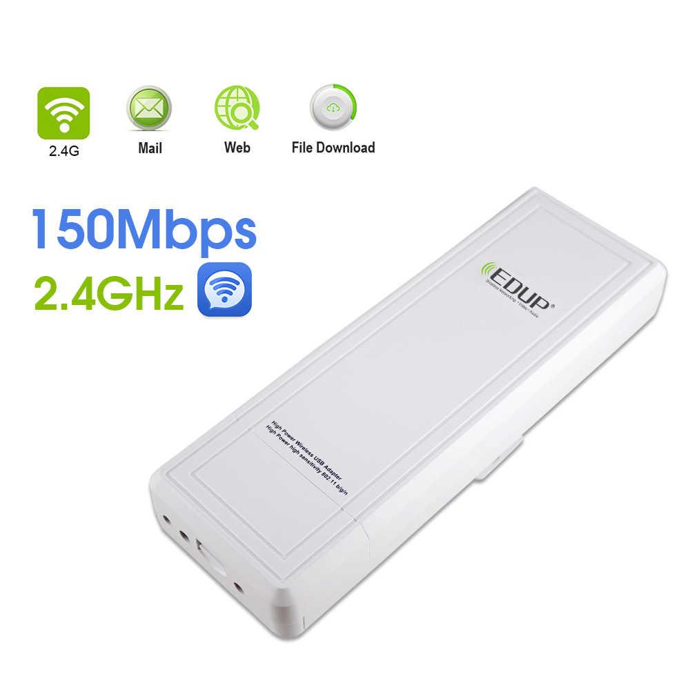 Récepteur WiFi longue portée EDUP 802.11n Gain élevé 16dBi 150 Mbps haute puissance RT3070L carte réseau WiFi Dongle USB 2.4 Ghz