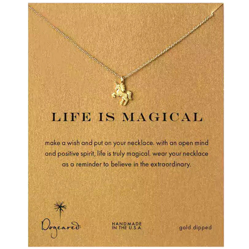 Pendant Necklace Unicorn Clavicle-Chain Gifts Beach-Jewelry Holiday Magical Girl Horse-Gold/silver