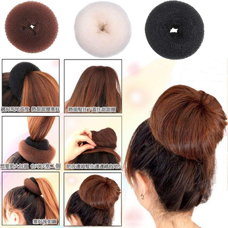 new cute s updo styling tools doughnut bun ring shaper hair styling ...