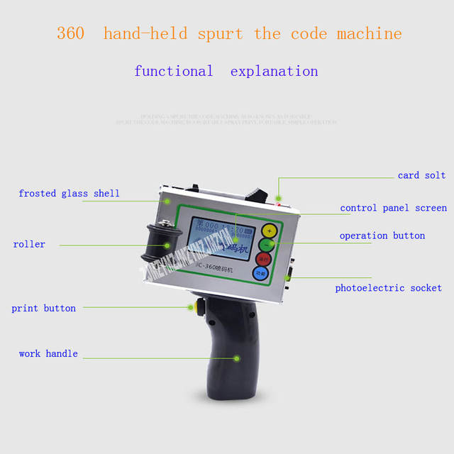 Eggs printing hand jet printer bar code software equipment marking cosmetic  labeling food labeling