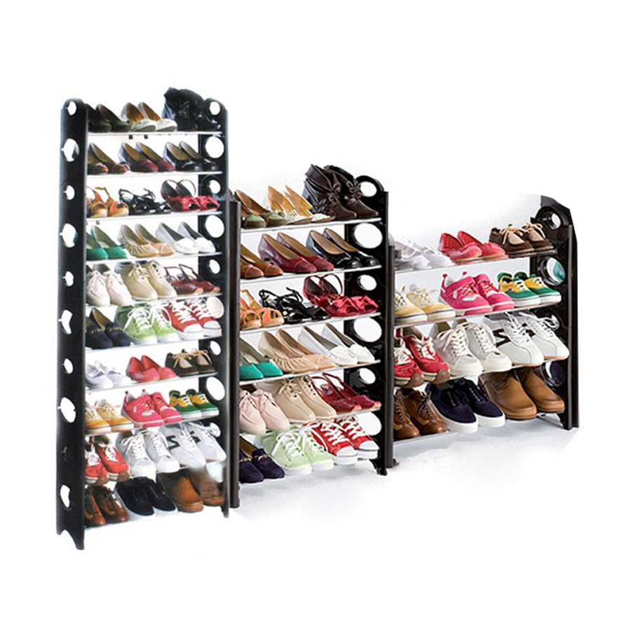Adjustable Tiers Round Shaped Shoe Tower Rack Organizer Space Saving Shoe  Rack Black(China