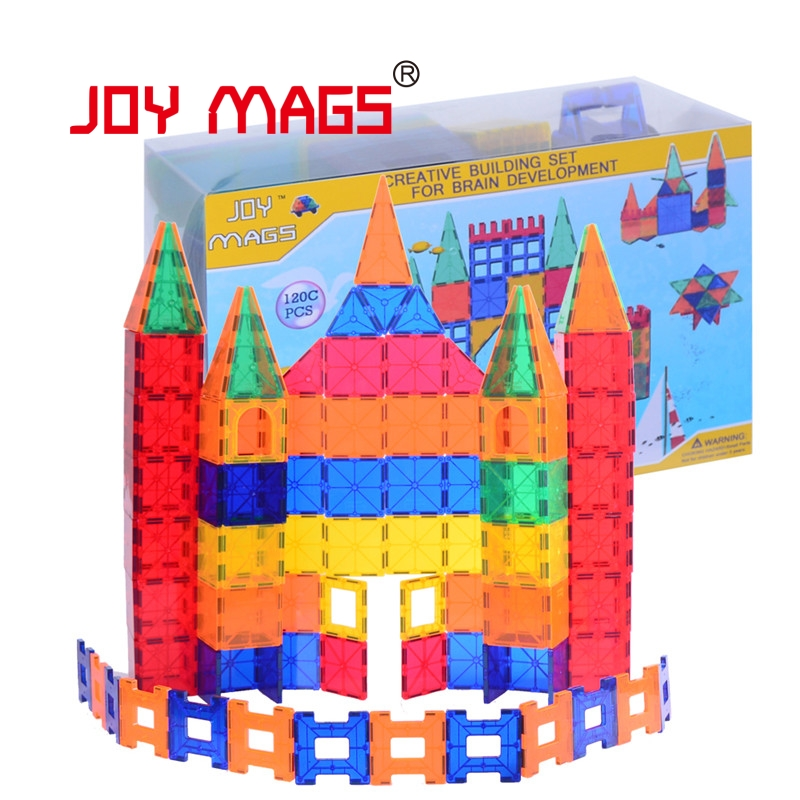 JOY MAGS  Magnetic Tiles 3D Building Blocks Construction Imagination Inspirational Recreational Educational JOY MAGS 150pcs joy mags brand magnetic tiles models blocks diy building toys inspire adult