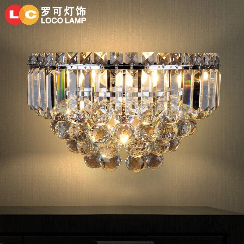 Simple modern crystal lamp L balcony aisle bedroom bedside restaurant villa study lighting 89 цена