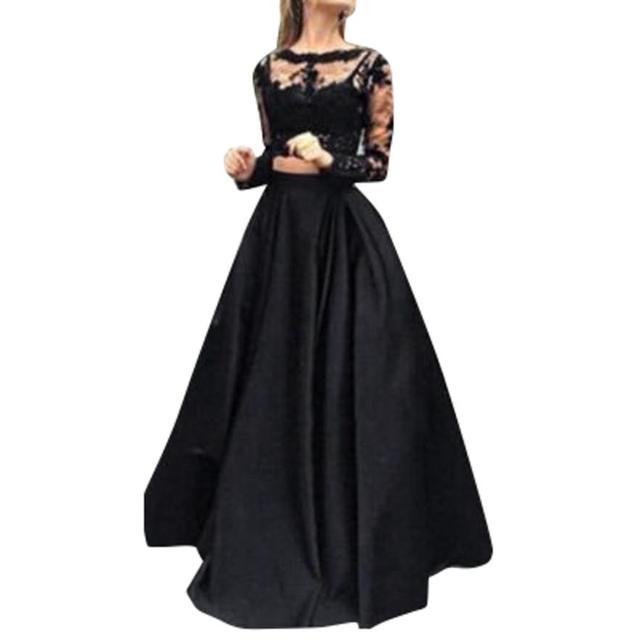 fe9f63ddcf2b64 Sexy kleider 2018 Frauen Solide Gerade Party Spitze Sommer kleid frauen  elegante lange kleid vestido de