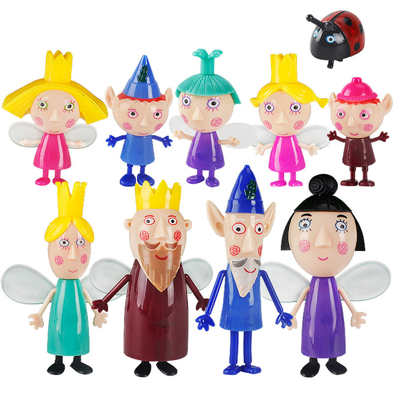 10pcs/set Holly and Ben Little Kingdom Cartoon Character PVC Little Kingdom Ben Holly Anime Figure Toys for Kids
