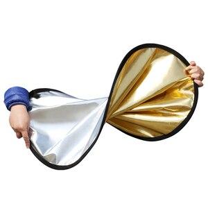 """Image 5 - 80 cm 31 """"5 in 1 Reflector Fotografia Ronde Flash Photo Studio opvouwbare light reflector Goud Zilver Wit Zwart doorschijnend"""