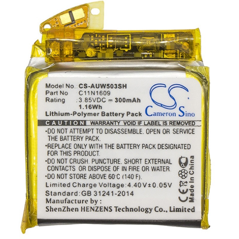 Battery for Asus ZenWatch 3 WI503Q Watch ZenWatch3 New Li polymer Rechargeable Replacement C11N1609 0B200-02260000 3.7V 300mAhBattery for Asus ZenWatch 3 WI503Q Watch ZenWatch3 New Li polymer Rechargeable Replacement C11N1609 0B200-02260000 3.7V 300mAh