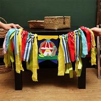 HAOCHU 1st Baby Girl Boy Boat Fox Theme Highchair Buntings Rag Tied Garlands Happy Birthday Baby