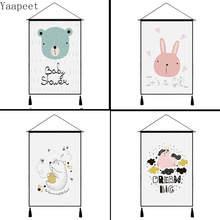 45x65cm Simple Cartoon Style Tapestry Background Cloth Decorative Fabric Painting Bed Decoration