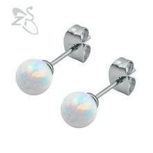 Stud Earrings Women Opal