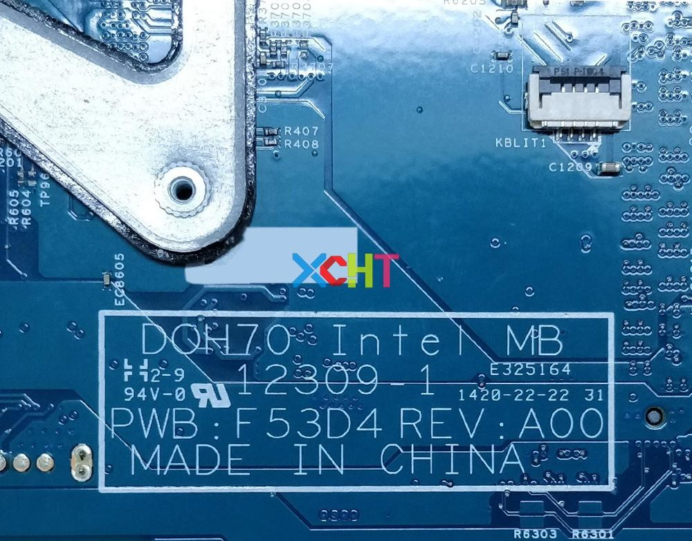 for Dell Inspiron 17R 7737 CN 0N3JV3 DOH70 12309 1 F53D4 REV A00 I7 4510U N14P GT A2 GT750M 2GB Motherboard Mainboard Tested in Laptop Motherboard from Computer Office