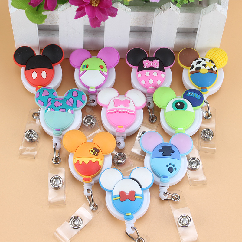 1Pcs Beautiful Mickey Mouse Telescopic Badge Reel ID Cardholder ID Badge Brand Tag Caliper Reel Is Available In Office Companies