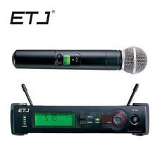 ETJ бренд SLX24/BETA58 58A Профессиональный UHF Беспроводной сдвоенные микрофоны Системы для сцены Studio ручной микрофон