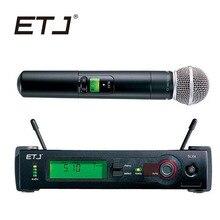 المهنية مكبر صوت لا سلكي ذو تردد فوق العالي SLX24 BETA58 58A سوبر صخب القلب للمرحلة كاريوكي يده ميكروفون SLX