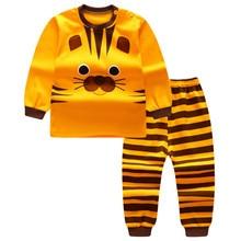 Купить с кэшбэком Autumn Baby Clothing Sets For Girls Boys Cotton Long Sleeve Top+Pants Kid Children Baby Girl Boy Clothes Underwear Pajamas DS19