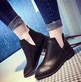 2016 Outono nova moda Europeus e Americanos baixos focinho pontiagudo com V profundo nua pé botas femininas