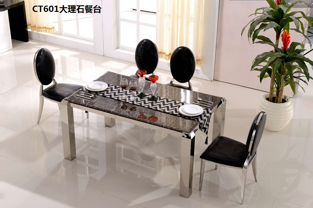XM601 Stainless steel frame marble top suface coffee tea side table TV stand cabinet dining table home furniture furniture sets stainless steel coffee table frame