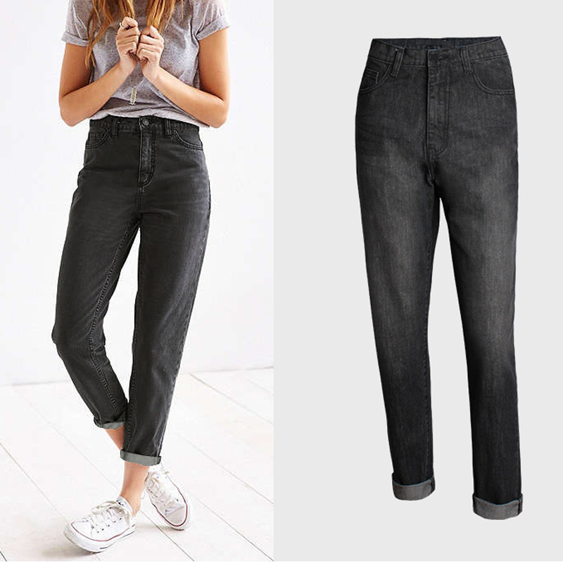 Elegant Simple Fashion Jeans For Woman American and European Style Straight Womens Jeans Denim Trousers Brand Lady Pants S740
