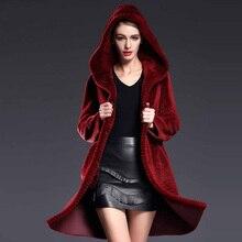 real leather fur coat real fur jacket coats natural fur coats casaco feminino winter coat women wool 2016 new Burgundy plus size