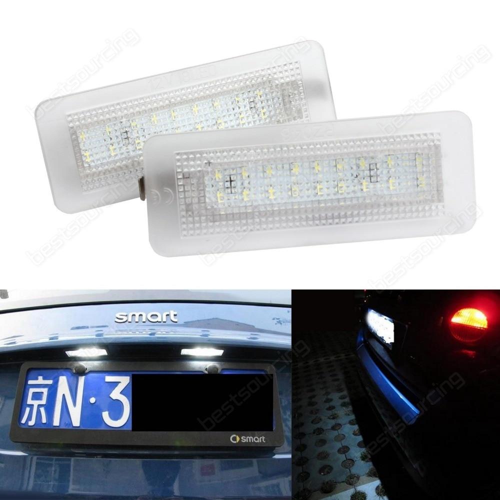 2х 2007-2015 Benz Смарт fortwo W451 canbus из светодиодов номерной знак света лампы(CA238)