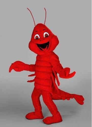 Costume de mascotte de homard rouge dessin animé Animal mascotte Costume de fête navire gratuit