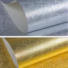 10 м золото/серебро фольга матовая текстура обои, роскошный блеск украшения для потолков& стены& комнаты& магазина 3D фон стены