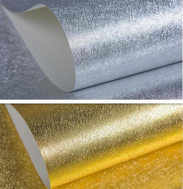 10 mt gold silber folie geb rstet textur tapete luxus glitter dekoration f r decken wand. Black Bedroom Furniture Sets. Home Design Ideas