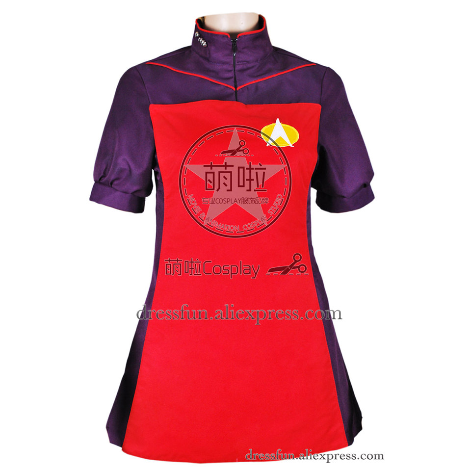 Star Trek Cosplay TNG The Next Generation Red Skant Dress Uniform Suit Outfits Halloween Fashion Party Fast Shipping