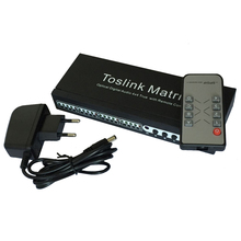 2017 Toslink Matrix New 4 In 4 Out SPDIF / TOSLINK Digital Optical Audio 4x4 True Matrix Switcher Selector Remote Control