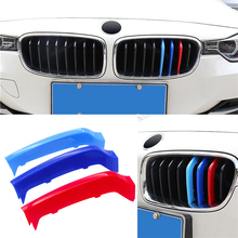 Car Styling Front Grille Trim Sport Strips Cover Power Performance Stickers For BMW 4 Series F32 F33 3D 2014-2017