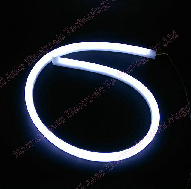 1 pair 60CM LED Flexible DRL Strip LED Daytime Running Lights With