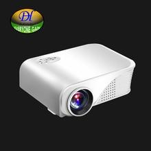 Todos Ganan Mini280w LED Proyector 1800 Lúmenes 1080 P HDMI AV USB SD Micro Controlador Remoto para Laptop Tablet PC