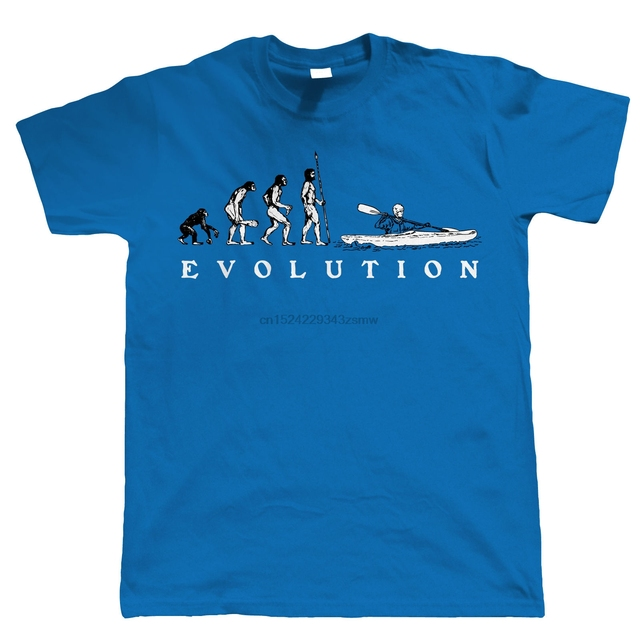 Evolution of Canoeing Kayaking Mens T Shirt  New Fashion Men& T-Shirts Short Sleeve Comfortable Top Tee Fashion
