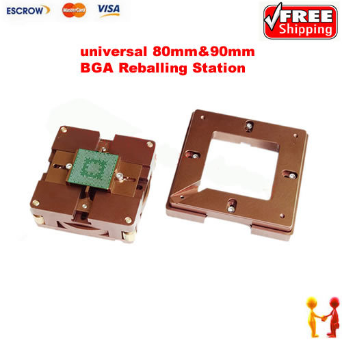 Freeshipping BGA Reballing station reball jig 80x80mm / 90mm*90mm with Magnet Inside tms320f28335zjza tms320f28335 bga