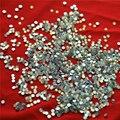 1440 pc/bag SS3 1.3-1.4mm White opal strass Não HotFix Natator Pedrinhas, Vidro Glitter Glue-on Solto DIY Da Arte Do Prego Cristais Pedras