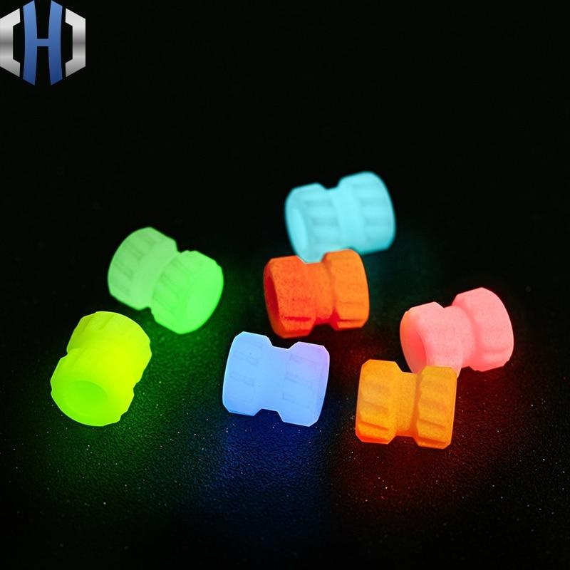 EDC DIY Paracord Beads Fluorescent Pendant Luminous Material Knife Pendant Mechanical Thread Knife Beads