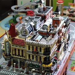 Lepinblocks Legoinglys Schepper Expert Stad Street View 15005 15008 Model Bouwstenen Bakstenen Kerstcadeau Speelgoed Voor Kinderen