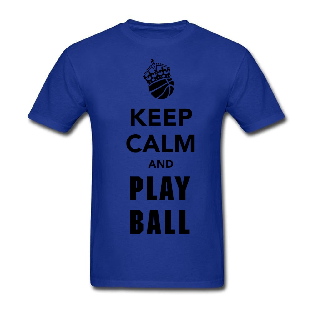 Geek Words Design Keep Calm And Play Basket Ball On Men T Shirt