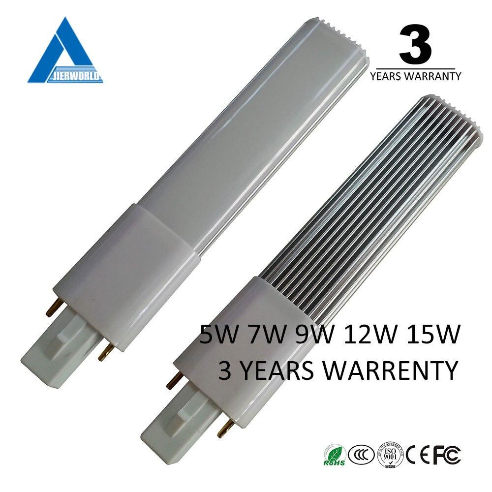 G23 lámpara soporte 3 años garantia blanco fresco blanco caliente pl 220 V 5 W 7 W 9 W 11 W 12 W G23 lámpara led Bombilla G23 lámpara led
