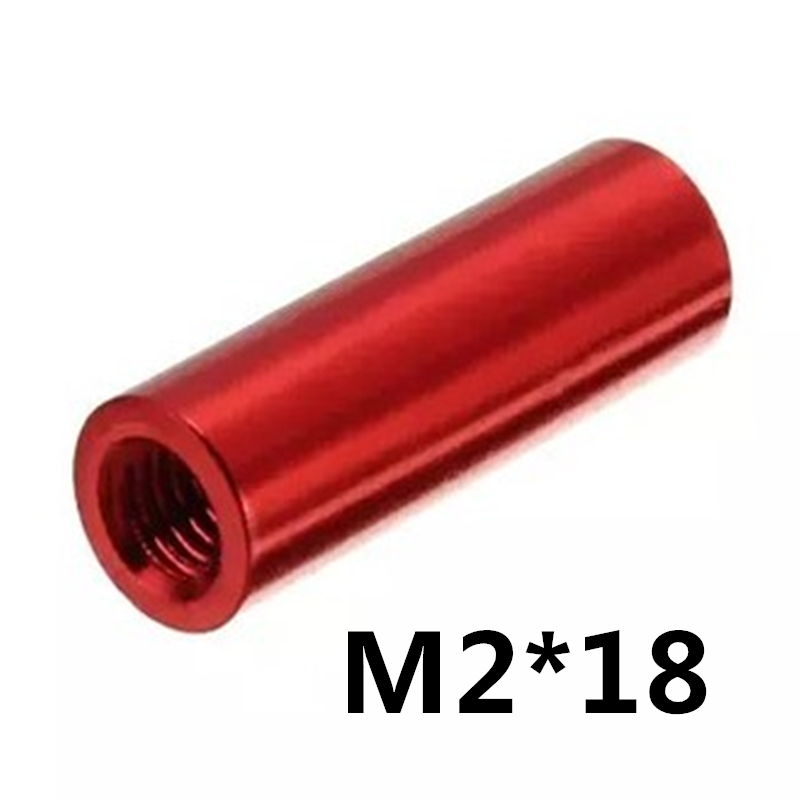 20pcs M2*18 Aluminum F - F Round Long Nut Standoff Spacer Model Aircraft With