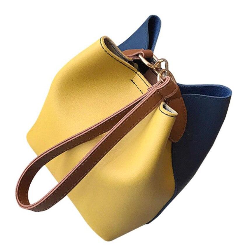 May23 In pink Delle Donne Borsa Borse Di Patchwork Spalla Largo Le red Pelle Modo Femminile yellow Hasp Molave Blue Crossbody Per Solid TS6qxf