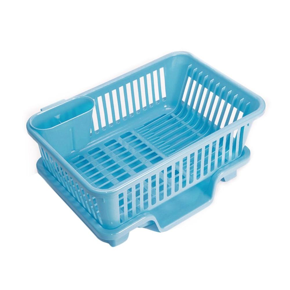2 Colors Plastic Washing Holder Basket Rack Storage Kitchen Wash Dry ...