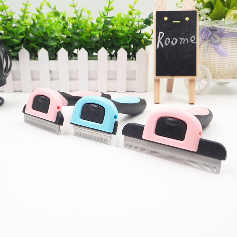 Dog Brush Pet Grooming Tool Hair Removal Comb for Dogs Cats Brush Detachable Hair Shedding Trimmer